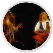 38 Special-94-larry N Jeff-gb20a-fractal Round Beach Towel
