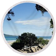 New Zealand Round Beach Towel