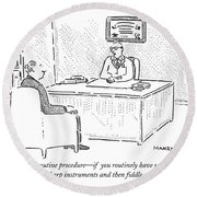 Well, Yes, It's A Routine Procedure - If Round Beach Towel