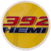 392 Hemi In Yellow Round Beach Towel