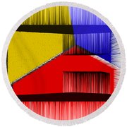 3d Abstract 1 Round Beach Towel