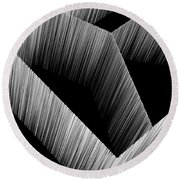 3d Abstract 15 Round Beach Towel by Angelina Vick