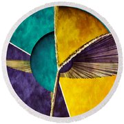 3d Abstract 22 Round Beach Towel