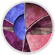 3d Abstract 24 Round Beach Towel