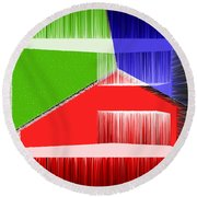 3d Abstract 3 Round Beach Towel by Angelina Vick