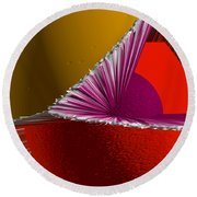 3d Abstract 5 Round Beach Towel