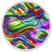 Abstract Series 38 Round Beach Towel