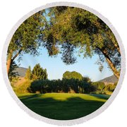 3rd Green At Quilchena  Round Beach Towel