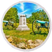 3rd Massachusetts Battery Gettysburg National Military Park Round Beach Towel