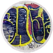 3t Graffiti Round Beach Towel