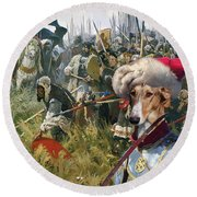Chart Polski - Polish Greyhound Art Canvas Print Round Beach Towel