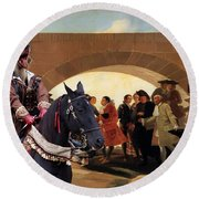 Weimaraner Art Canvas Print  Round Beach Towel