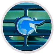 1933 Pontiac Emblem -0467c Round Beach Towel