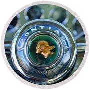 1933 Pontiac Steering Wheel Emblem Round Beach Towel