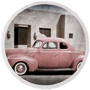 1940 Ford Deluxe Coupe Round Beach Towel