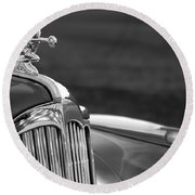 1942 Packard Darrin Convertible Victoria Hood Ornament Round Beach Towel
