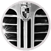 1948 Lincoln Continental Grille Emblem Round Beach Towel