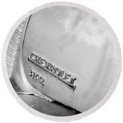 1949 Chevrolet 3100 Pickup Truck Emblem Round Beach Towel