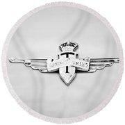 1954 Hudson Italia Touring Coupe Emblem Round Beach Towel
