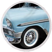 1956 Chevrolet Bel Air Convertible Round Beach Towel