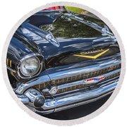 1957 Chevrolet Bel Air Round Beach Towel