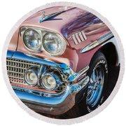 1958 Chevrolet Bel Air Impala Painted  Round Beach Towel