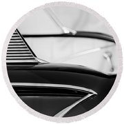 1958 Chevrolet Belair Abstract Round Beach Towel