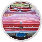 1963 Ford Falcon Sprint Convertible  Round Beach Towel
