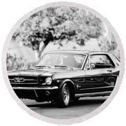 1965 Shelby Prototype Ford Mustang  Round Beach Towel