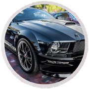 2007 Ford Mustang Shelby Gt Painted  Round Beach Towel