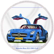 2010 Mercedes Benz S L S Gull-wing Round Beach Towel