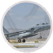 A Royal Saudi Air Force F-15 Round Beach Towel