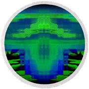 Abstract 101 Round Beach Towel