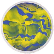 Abstract 106 Round Beach Towel