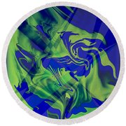 Abstract 32 Round Beach Towel