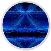 Abstract 76 Round Beach Towel
