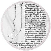 Anton Van Leeuwenhoek Round Beach Towel