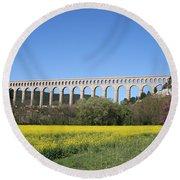 Aqueduct Roquefavour Round Beach Towel