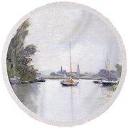 Argenteuil Round Beach Towel by Claude Monet