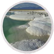 Atacama Salt Lake Near San Pedro De Round Beach Towel