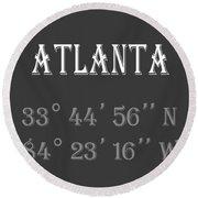 Atlanta Coordinates Round Beach Towel