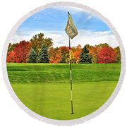 Autumn Golf Round Beach Towel