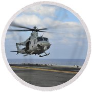 Aviation Boatswains Mate Directs Round Beach Towel