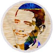 Barack Obama Round Beach Towel by Marvin Blaine