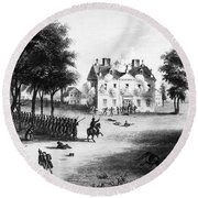 Battle Of Germantown, 1777 Round Beach Towel