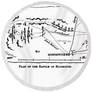 Battle Of Monmouth, 1778 Round Beach Towel