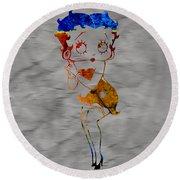 Betty Boop Round Beach Towel