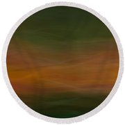 Blurscape Round Beach Towel