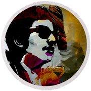 Bob Dylan Recording Session Round Beach Towel