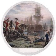 Boston: Evacuation, 1776 Round Beach Towel